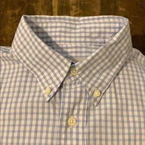 Jack Spade Blue Striped Mens Button Down Shirt